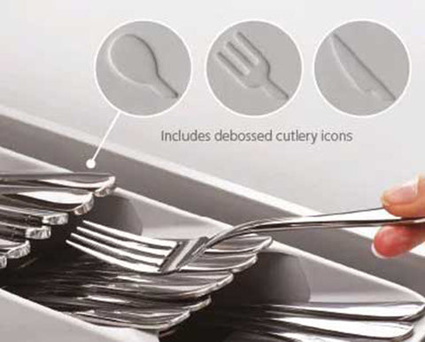 Grey-Compact Cutlery Organizer | GoInsShop