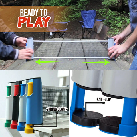 Anywhere Retractable Table Tennis Set