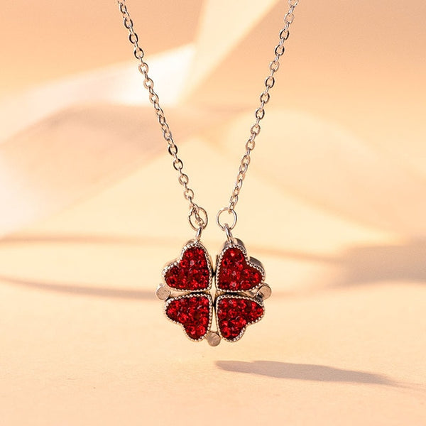 Four Heart Clover Necklace