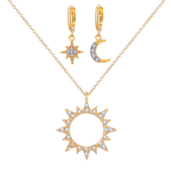 Sun Necklace Set