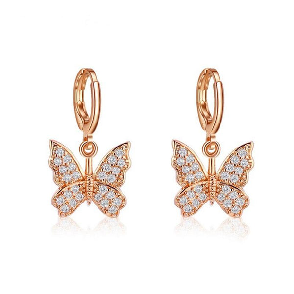 butterfly danglee earrings