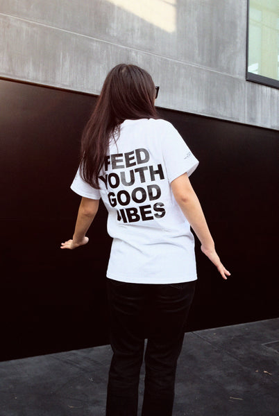 "NATIVE SONS Ex.S/S PRINT T ""FEED YOUTH"""