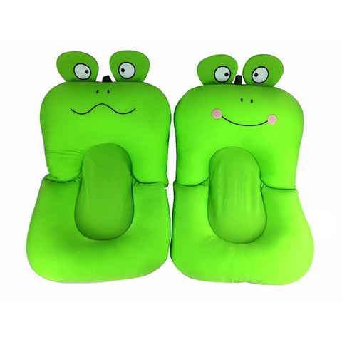 Soft Baby Bath Mat Anti-slip Shower Cushion Cartoon Frog Shape Bathtub Aid Bathing Support Safety For Baby Infant Bath Pad