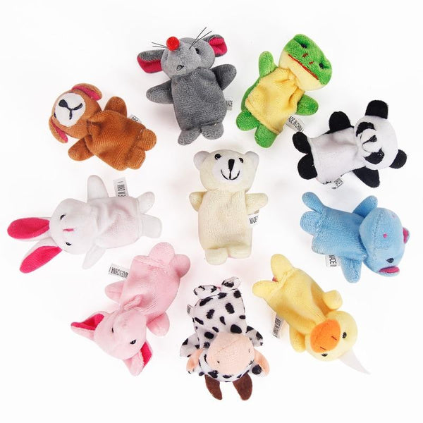 10pcs/Lot Cartoon Animal Velvet Finger Puppet Finger Toy Finger Doll Baby Cloth Educational Hand Story Baby Toy