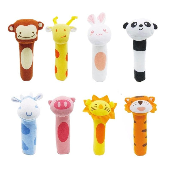 differnet kinds Baby toys baby hand grip rod toys, educational toys rattle animal BB Stick Hand Bell Toy 20%Off