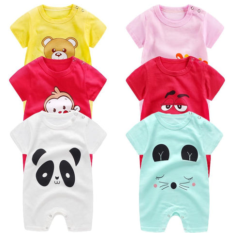baby clothes 100% cotton short sleeve summer girls boys rompers toddler infant 0-18 months clothes