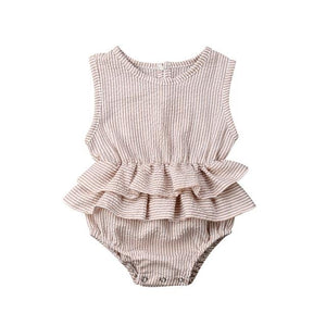 Solid Newborn Kid Baby Girl Clothes Sleeveless Romper Tutu Dress 1PC Sunsuit Outfit