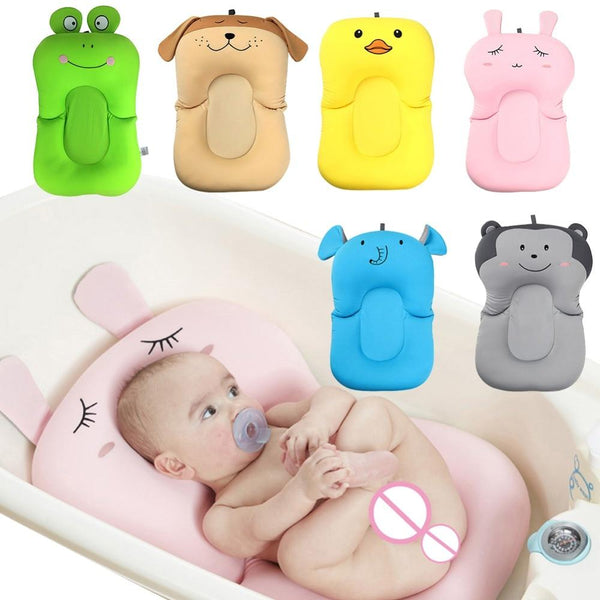 Portable Baby Shower Air Cushion Bed Babies Infant Baby Bath Pad Non-Slip Bathtub Mat Newborn Baby Safety Security Bath Seat