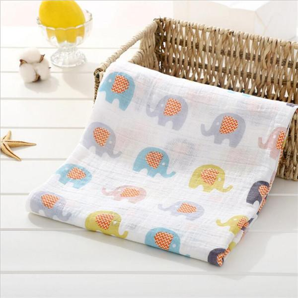 100% cotton muslin newborn swaddle blankets 2 layers baby organic swaddle wrap stroller cover infant swaddle receiving blanket