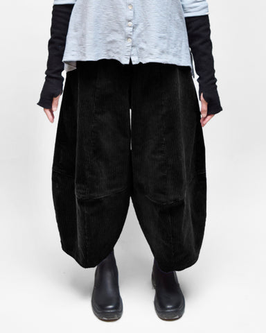 MOTION Corduroy Bubble Pants - Black