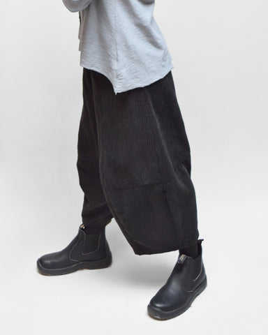 MOTION Corduroy Bubble Pants - Charcoal Grey