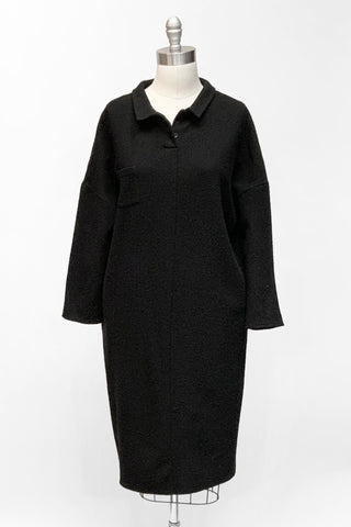 Elemente Clemente Boiled Wool Collared Dress
