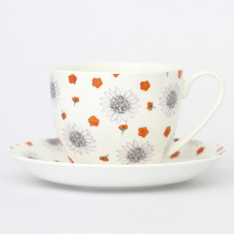 Astrantia Breakfast Cup & Saucer
