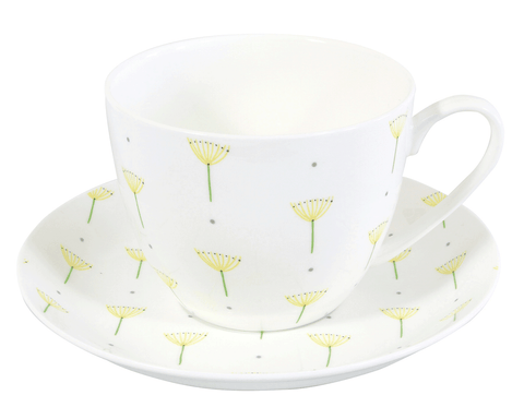 Seed Head Breakfast Cup & Saucer