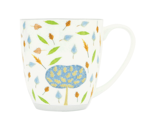 Oak Tree & Leaves Mug