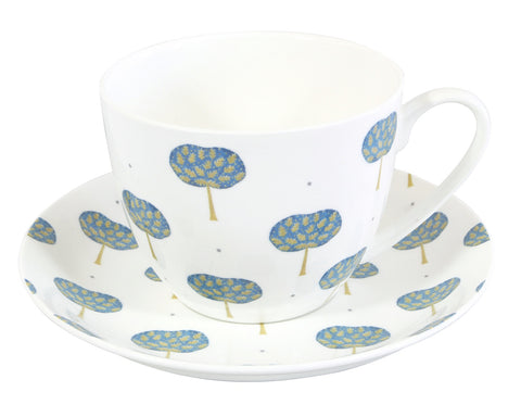 Oak Tree Breakfast Cup & Saucer
