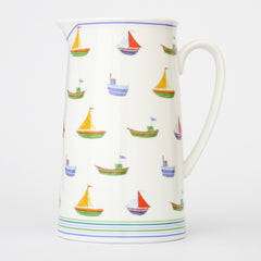 Seaside Boats 18cm Pitcher