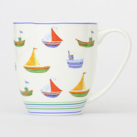 Seaside Boats Mug