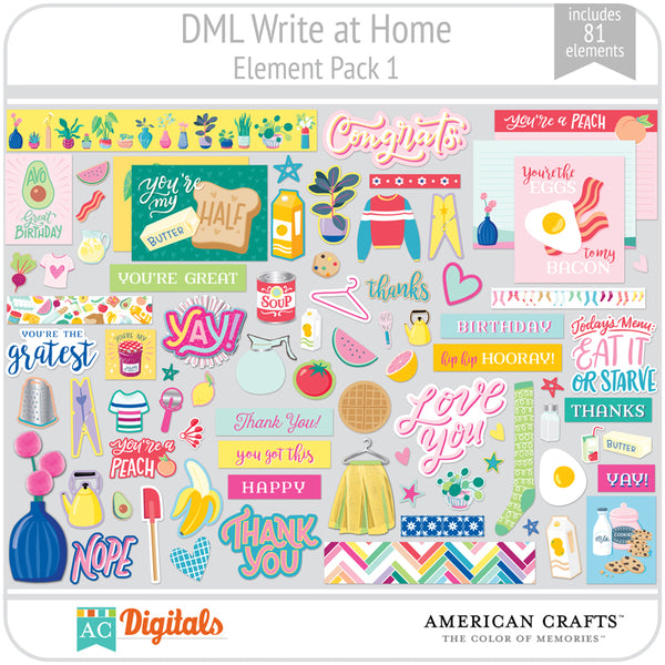 Write at Home Element Pack 1
