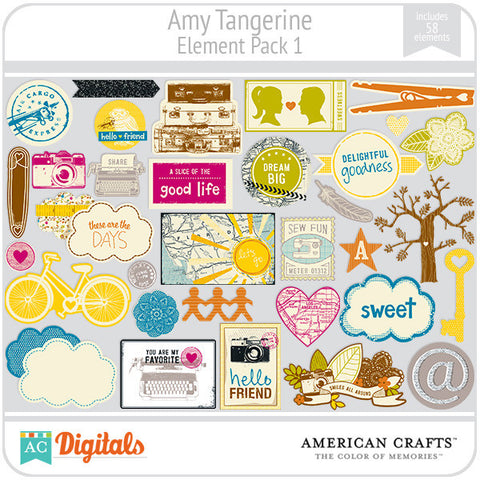 Amy Tangerine Element Pack #1