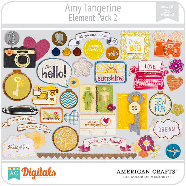 Amy Tangerine Element Pack #2