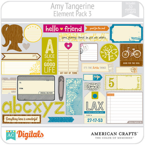 Amy Tangerine Element Pack #3