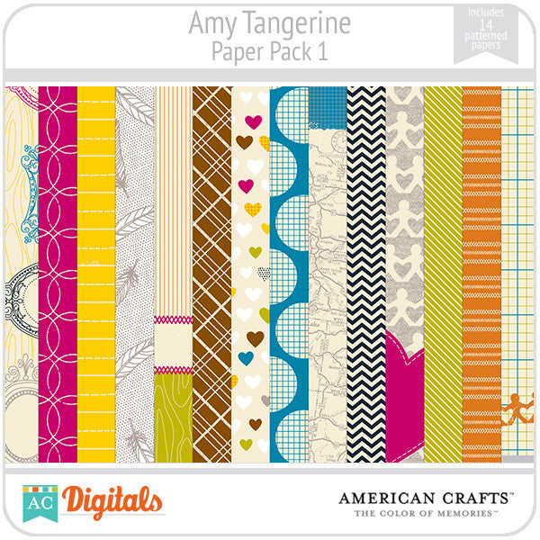 Amy Tangerine Paper Pack #1