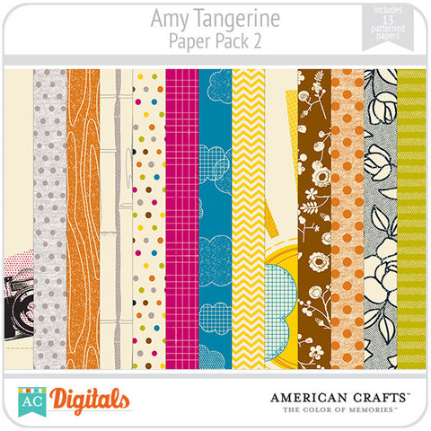 Amy Tangerine Paper Pack #2