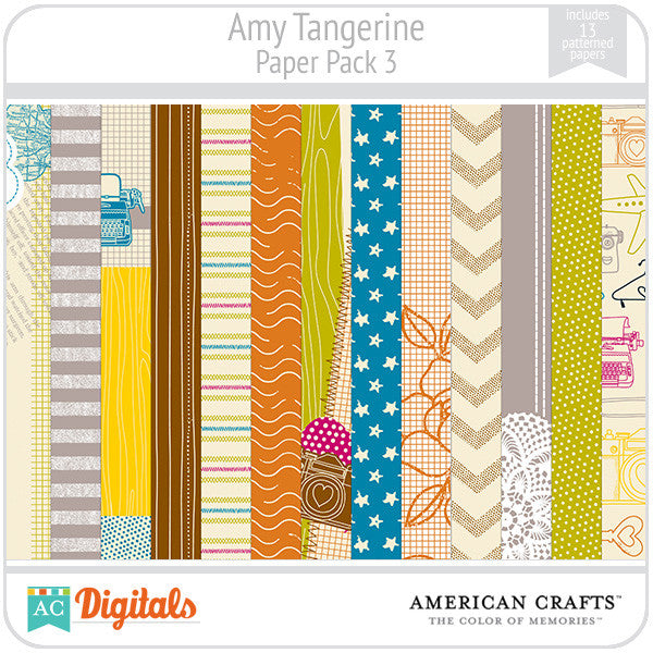 Amy Tangerine Paper Pack #3