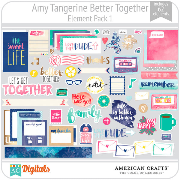 Amy Tangerine Better Together Element Pack 1