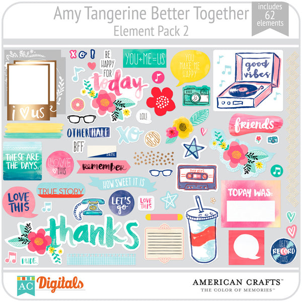 Amy Tangerine Better Together Element Pack 2