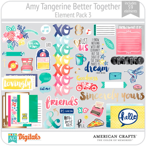 Amy Tangerine Better Together Element Pack 3