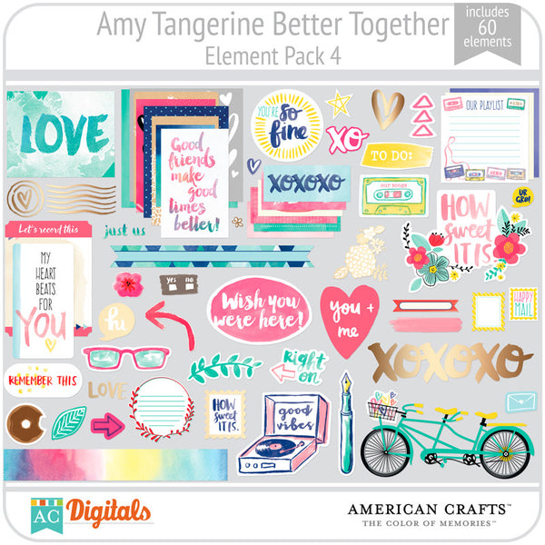 Amy Tangerine Better Together Element Pack 4