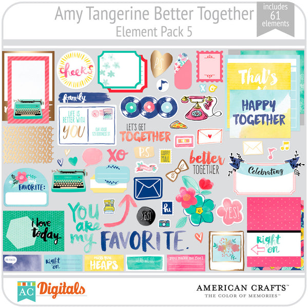 Amy Tangerine Better Together Element Pack 5