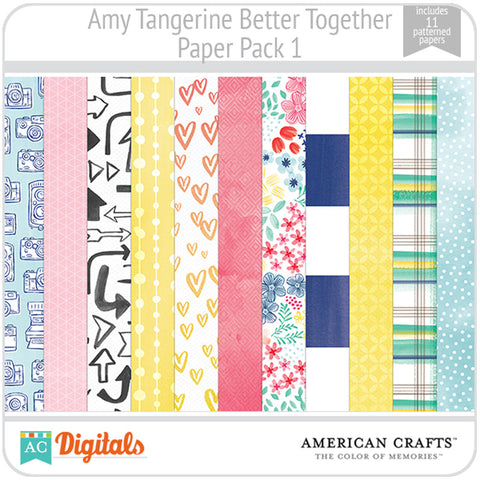 Amy Tangerine Better Together Paper Pack 1