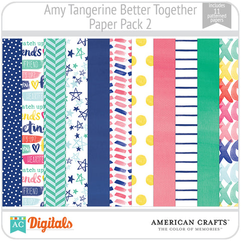 Amy Tangerine Better Together Paper Pack 2