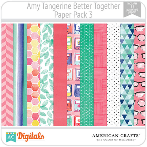 Amy Tangerine Better Together Paper Pack 3