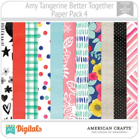 Amy Tangerine Better Together Paper Pack 4