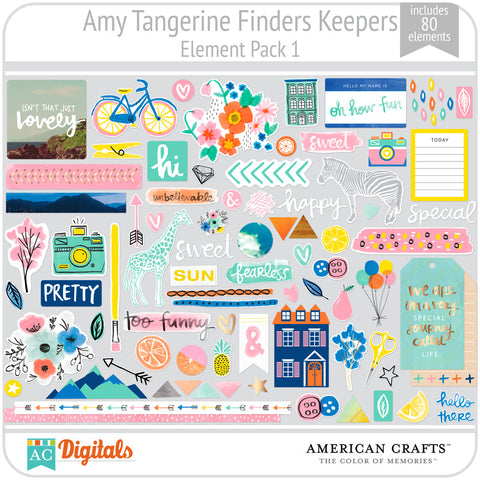 Amy Tangerine Finders Keepers Element Pack #1