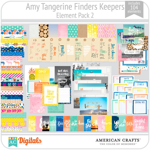 Amy Tangerine Finders Keepers Element Pack #2