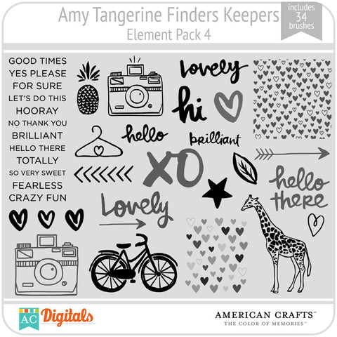 Amy Tangerine Finders Keepers Element Pack #4