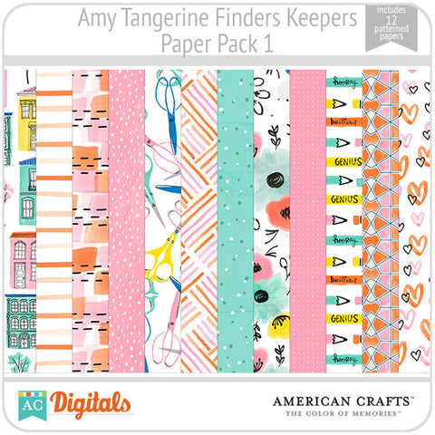 Amy Tangerine Finders Keepers Paper Pack #1