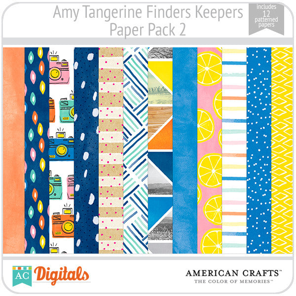 Amy Tangerine Finders Keepers Paper Pack #2