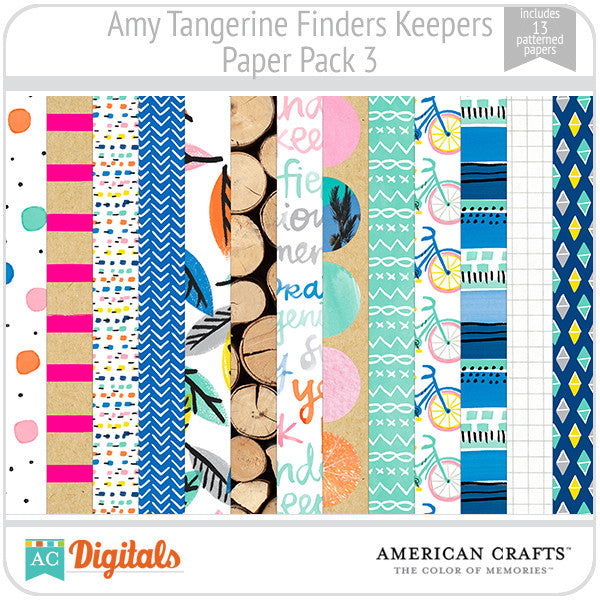 Amy Tangerine Finders Keepers Paper Pack #3