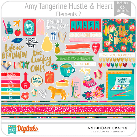 Amy Tangerine Hustle and Heart Element Pack 2