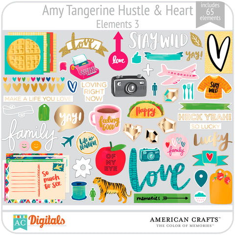 Amy Tangerine Hustle and Heart Element Pack 3