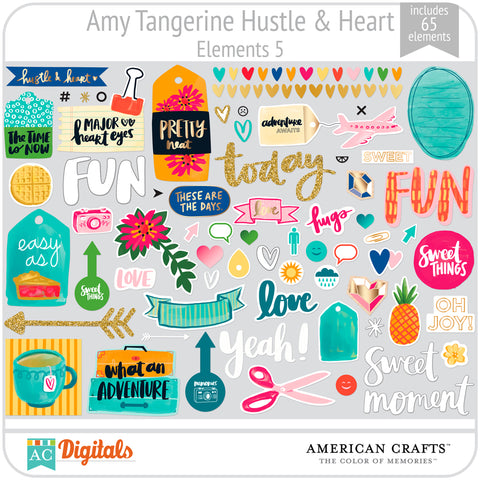 Amy Tangerine Hustle and Heart Element Pack 5