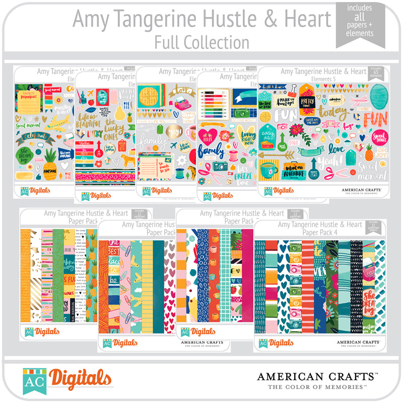 amy tangerine hustle and heart full collection ac digitals