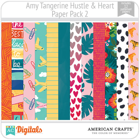 Amy Tangerine Hustle and Heart Paper Pack 2
