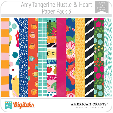 Amy Tangerine Hustle and Heart Paper Pack 3